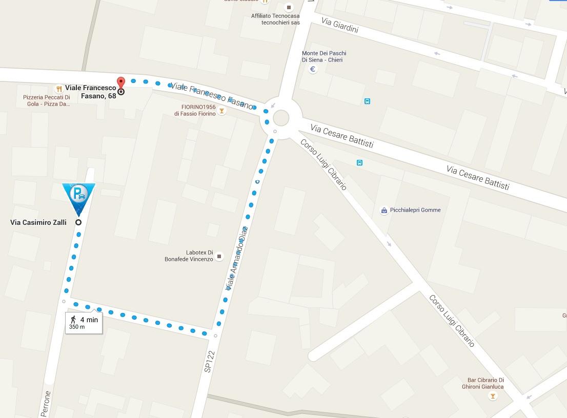 Mappa parcheggio